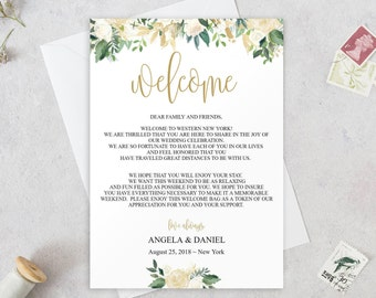 Wedding welcome note etsy wedding welcome letter template printable wedding welcome letter welcome bag letter welcome itinerary thecheapjerseys Image collections