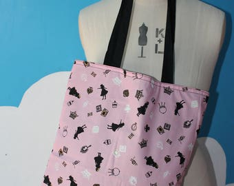 japanese print - alice in wonderland cat tote bag