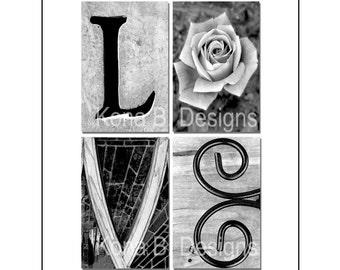 LOVE  -  Alphabet Photography - Wedding or Anniversary gift - 8x10 unframed