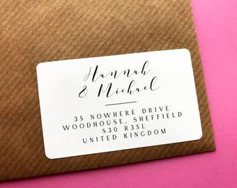 Custom Return Address Sticker, Calligraphy Address Label, Wedding Invitation Label, Personalised Returns Label, Calligraphy Address Sticker