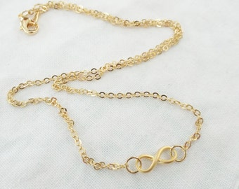Necklace Infinity gold Eternity Bridesmaid gift