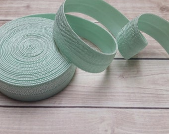 5/8 MINT Fold Over Elastic 5 or 10 Yards