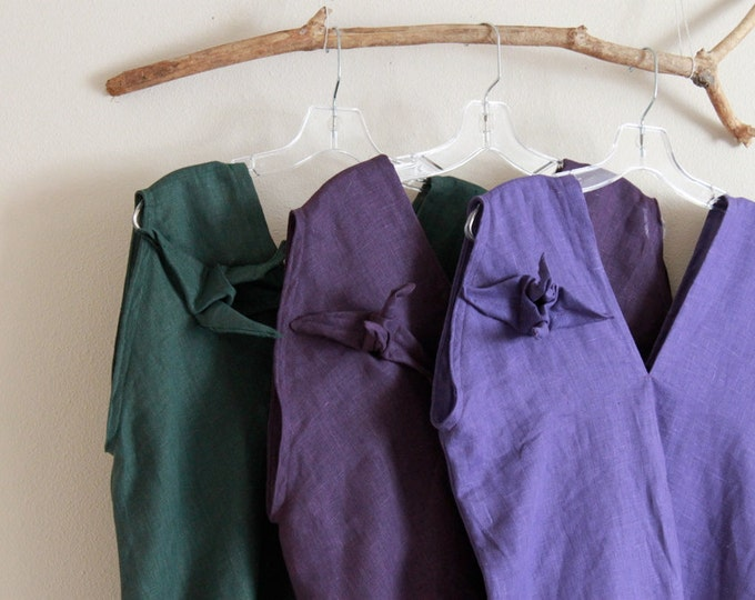 size XS to 5 XL and up made to order  linen origami crane top