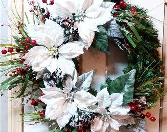 Winter Wreath Front Door, Winter Wreaths For Front Door, Winter Wreath, Holiday Wreath For Front Door, Christmas Wreaths For Front Door