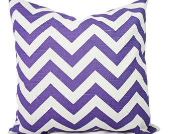 Two Purple Chevron Pillow Covers - Decorative Pillow Cover - Purple Throw Pillow - Purple Pillow - Chevron Pillow - Dorm Decor - Girl Decor