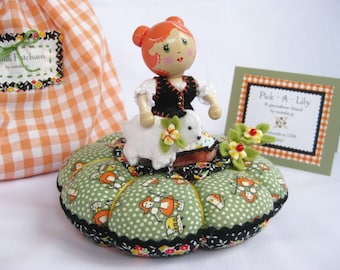 Pick-a-Lily Pincushion Doll......introducing Mary and her Little Lamb