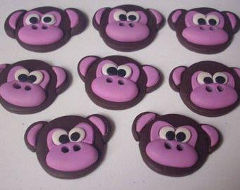 Monkey button - button fimo handmade-