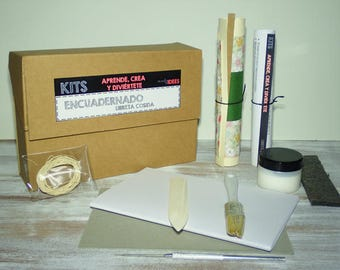 Bookbinding kits how to etsy dk kit make a book starter kit for beginners do it yourself solutioingenieria Choice Image