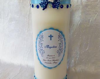 Candles custom 22 cm baptism or communion