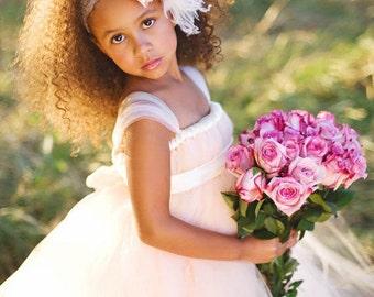 Blush Flower Girl Tutu Dress