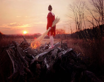 Fuel to the Fire - Fine Art Photography - Wall Art - Conceptual Print - Girl on Fire