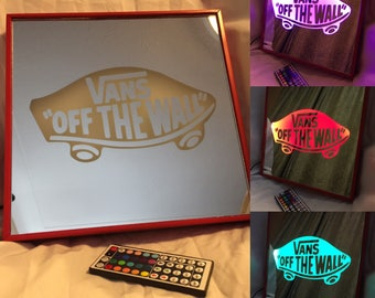 VANs off the wall Remote Controlled Color Changing led lit mirror