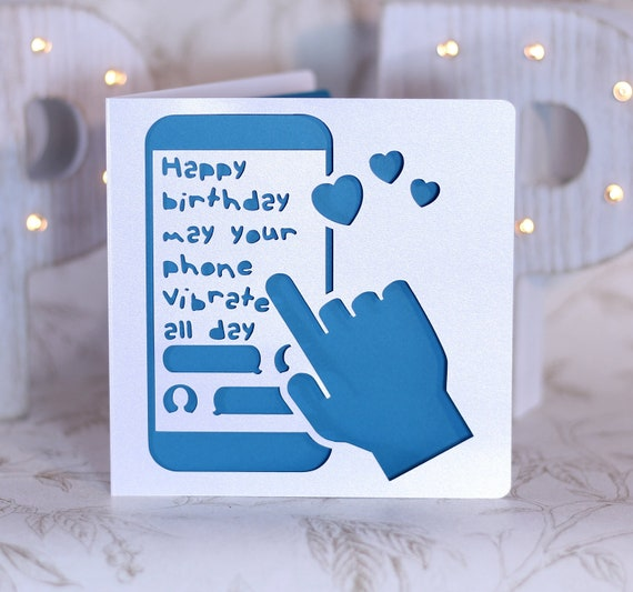 Funny cellphone card gay birthday card sexy birthday card like this item bookmarktalkfo Image collections