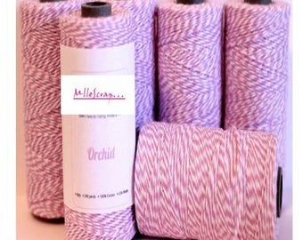 5 m baker's twine in light purple embellishment scrapbooking cardmaking