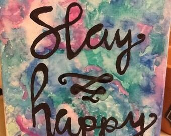 Watercolor canvas quote