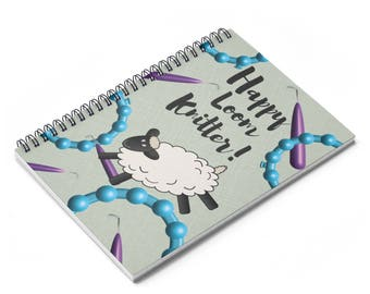 Loom Knitting Journal, Spiral Project Notebook, Ruled Line. Great Gift Idea For The Loom Knitter!