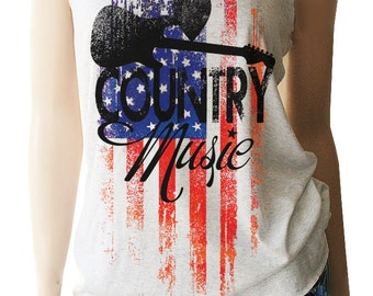 Country Music Shirt. Country Music Tank. Memorial Day Shirts. 4th of July. Country Tank Top. Country Shirts. Country Festival. Patriotic.