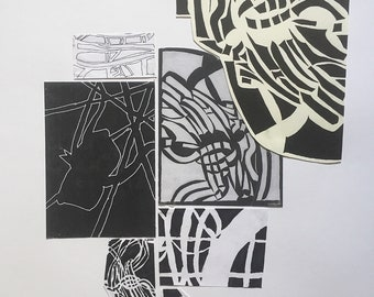 A1 Ink Drawings and Collage