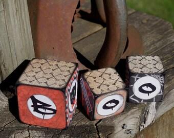 Halloween Wooden Blocks  Halloween Decor BOO