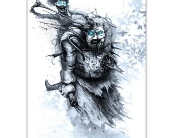 Bran Stark & Hodor - Signed A4 Print