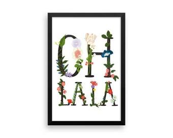 Oh la la - flower - Framed poster