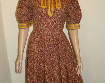 Frontier Lady Costume Adult Size Medium Oklahoma Old West Little House on the Prairie
