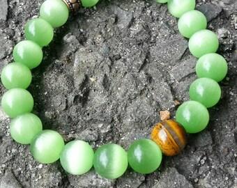 Green and Tiger's Eye Bracelet