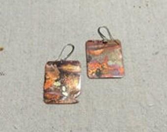 Artist - Copper Earrings by Leilehua Yuen