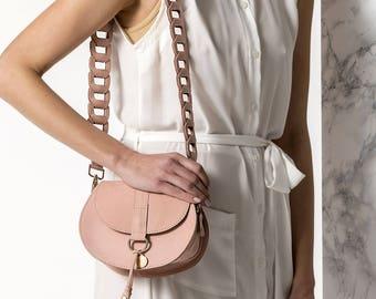 Mini Leather bag, Nude small bag, Women leather bag, Small leather purse, Clio design MINI, NEW