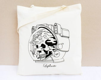 Cotton Tote Bag / Shopping bag / Organic Cotton Bag - The Smoker