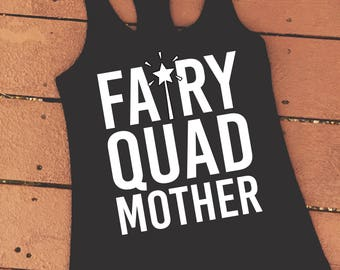 Fairy Quad Mother | Funny Gym Weightlifting Tank Top | Funny Fitness Motivational Shirt | Oh my Quad Becky Quad Damn CrossFit Tank Top
