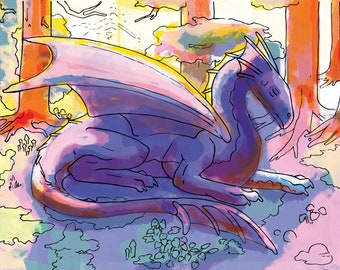 Dragons - Set of Five Coloring Pages