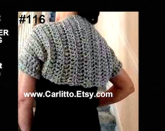 Crochet Pattern, shrug, easy summer shrug, toddler to adult, o.k. to sell your finished items, instant download