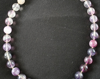 Purple Fluorite Necklace
