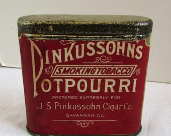 Pinkussohns Potpourri Smoking Tobacco 15 Cents Pocket Tin