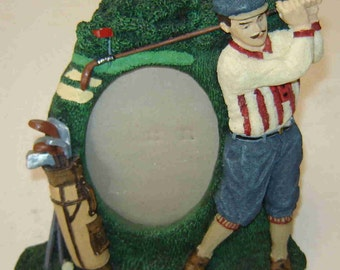 "Father's Day Gift - Vintage Figi Graphics - GOLF PICTURE FRAME - 3D Graphics - entitled ""Vintage Man"" dated 1993"