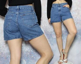 90s Riders Denim Shorts High Rise Shorts High Waisted Jean Shorts Hipster Hippie Boho Grunge Mom Shorts Women's Size 6 / Size M