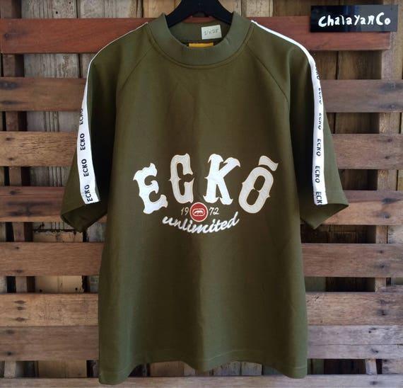 Vtg 90s ecko unlimited biglogo embroidery spellout !! Sucp3