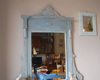 Art nouveau large mirror - Shabby Chic