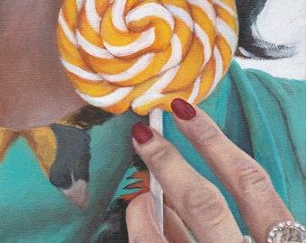 Art Print Reproduction // Taste of Summer // From Original Acrylic Painting // Food Art // 22 cm x 17 cm // Cynthia Katz