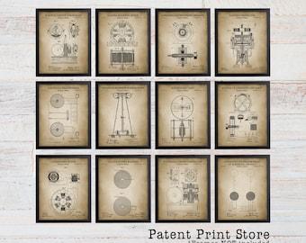 Nikola Tesla Patent Print Set. Tesla Patent Prints. Engineering Patent Print Set. Tesla Coil Patents. Tesla Lamp Patent. Electric Circuit.