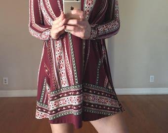 Bohemian womens dress nwt S & M