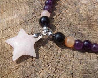 Rose Quartz Star Necklace