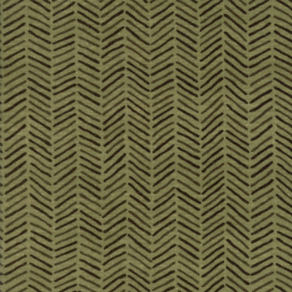 Sage Green Flannel With Diagonal Crossed Hash Lines From Holly Taylor Fall Impressions Moda Fabric By The Yard 6705 17F