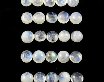 Rainbow Moonstone 5mm Round Cabochons Sale by Best in Gems (303)