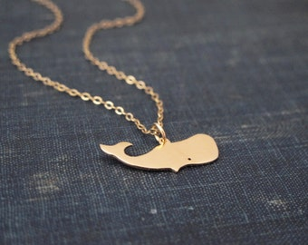 Whale Necklace - Gold - Animal Necklace - Fish Necklace - Minimal Necklace - Gold Necklace - Dainty Necklace - Nature Necklace