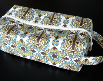 XL Box Bag in Lizz Damask - Teal