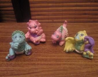1980s Magic Dinosaur Babies Figures (set of four)
