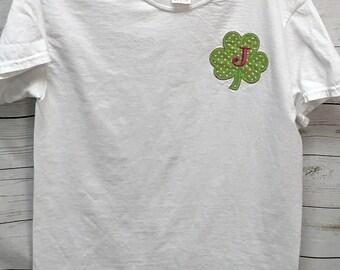 Shamrock Applique, Shamrock Shirt, St Pattys Day Shirts, shamrock shirts, mommy and me shirts, women's clothing, tops and tees, T-shirts,
