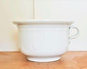 Antique Ironstone Chamber Pot